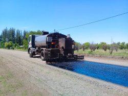 San Rafael: reasfaltan uno de los sectores más transitados de Cañada Seca